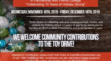Youth Action 10th Annual Toy Drive Flyer