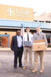 Republic Bank & La Salle H S  donate computers and software